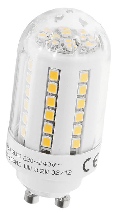 led smd lampe leuchte kerze gu10 160 3w warmwei 30watt. Black Bedroom Furniture Sets. Home Design Ideas