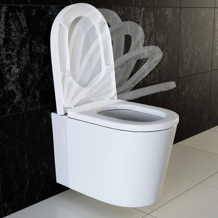 vilstein design wand h nge wc toilette tiefsp ler inkl wc sitz mit absenkautomatik nano vs kh 01. Black Bedroom Furniture Sets. Home Design Ideas