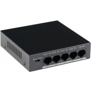 PoE Switches: GOLIATH 4-Port PoE Switch + 1-Port Gigabit Uplink, RJ45 10/100Mbps, Max 30W/Port, Gesamtleistung 58W