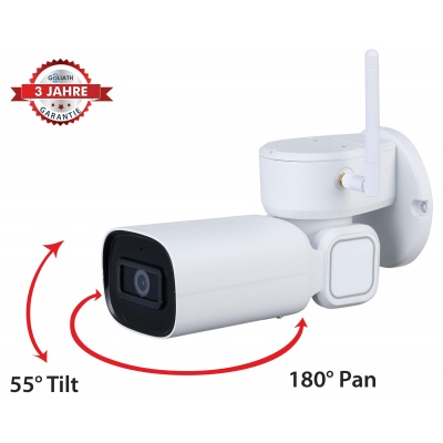 GOLIATH Starlight IP WLAN PTZ Kamera | 2 MP | Pan-Tilt-Zoom | WDR | 20m IR | IVS | App | WiFi Serie