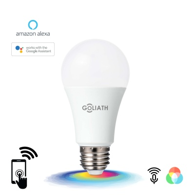 Goliath WLAN Smart LED Lampe E27 RGB 10W, Amazon Alexa, Google Home, Smart-Life, Sprachsteuerung