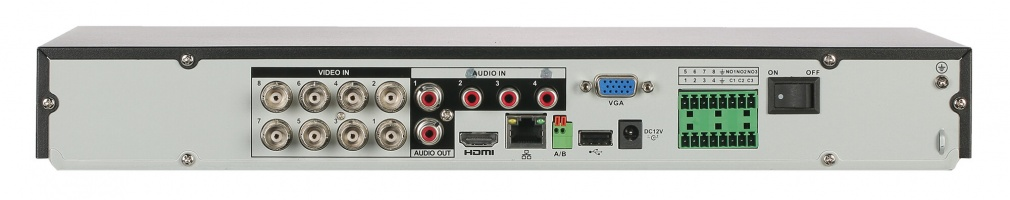 GOLIATH 8 Kanal Tribrid H.265+/H265 DVR, HDCVI/IP/Analog, 4K, SMD PLUS, AI Serie
